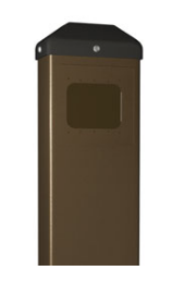 BEA 10BOLLARDBRZ Bollard Post For Stainless Push Plates, Bronze
