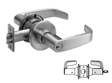 Sargent 28-60-11G04 Storeroom Lever Lock - Large format IC core - less core