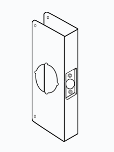 Don-Jo 1-10B-CW Wrap Around Plate For Cylindrical Lock W/  sc 1 st  American Locksets & Wrap Around Plate For Cylindrical Door Locks with 2-1/8\