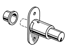 S.Parker 2286 Sliding Door Lock - Pack of 10