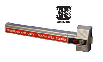 Detex ECL-230X-W Alarmed Dead Bolt Panic Device -Weatherized