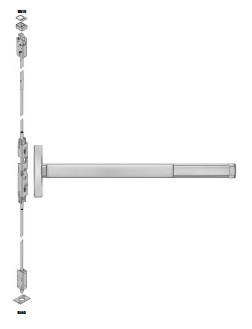Precision 2600 (2603) Apex Concealed Vertical Rod Exit Device - Narrow Stile