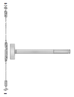 Precision 2800 (2803) Apex Concealed Vertical Rod Exit Device - Wide Stile