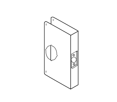 Wrap Around Plate For Locks With Extended Or Converted Backsets