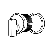 "Adams Rite 4066-01-628 Thumbturn cylinder with 1/4"" ring For MS1850 Or 4900- Clear Anodized"