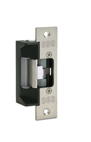 "SDC 45-4SU Electric Strike - 4-7/8"" Square Corner Faceplate"