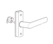"Adams Rite 4568-11 Eurostyle Deadlatch Handle - Straight Lever - 1-3/4"" to 1-15/16"" Door Thickness"
