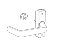"Adams Rite 4569-11 Eurostyle Deadlatch Handle - Return End Lever - 1-3/4"" to 1-15/16"" Door Thickness"