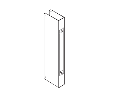 Don-Jo 504-S-CW Wrap Around Plate For Mortise Lock 86 Cut-out - Satin Stainless Steel  sc 1 st  American Locksets & Don-Jo 504-S-CW Wrap Around Plate For Mortise Lock 86 Cut-out ...