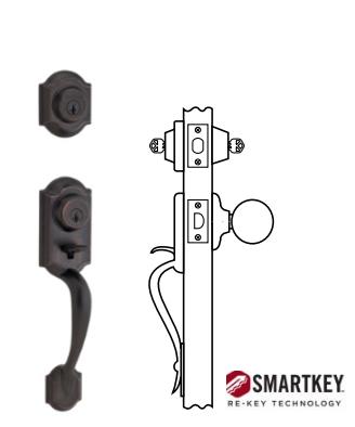 kwikset montara handleset with double cylinder deadbolt twopoint locking smartkey venetian bronze