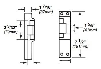 Von Duprin 6214ds Us32d Electric Strike W Dual Signal Switch P 4820