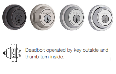 Kwikset 660CRR SMT Contemporary Deadbolt - Single Cylinder - SmartKey