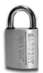 "Sargent 60-758 Padlock - 1"" Shackle - Large Format IC Core - Less Core"