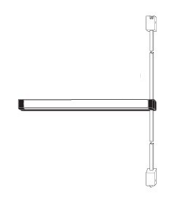 Adams Rite 8111 Surface Vertical Rod Exit Device - Clear Anodized