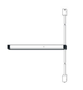 Adams Rite 8211 Narrow Stile Surface Vertical Rod Device, Aluminum Finish