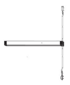 Adams Rite 8600-36-US32D Narrow Stile Concealed Vertical Rod Exit Device - Satin Stainless  - 36""