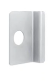 Dorma 8P03 689  Offset pull with cylinder hole - Silver Aluminum Painted