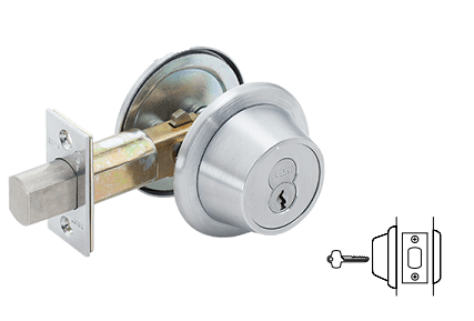 Stanley BEST 8T-2-7-L-STK-626 Grade 1 Cylinder/Blank Deadbolt - 2-3/8 Backset - Satin Chrome