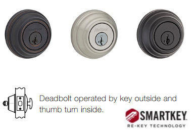 Kwikset Signature 980 SMT Deadbolt - Single Cylinder - SmartKey