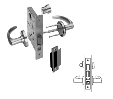 Stanley / BEST 45H7AB Office (F20) Mortise Lever Lock