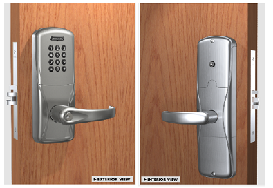 Schlage AD-200-MS-40-KP Mortise Keypad Standalone Electronic Lock W/ Audit Trail - Privacy Function