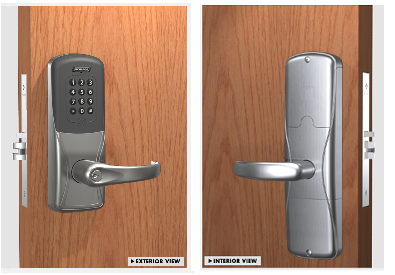 Schlage AD-200-MS-70-MTK Mortise Multi-technology with Keypad Electronic Lock W/ Audit Trail - Classroom / Storeroom