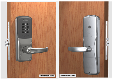 Schlage AD-200-MS-40-MSK Mortise Multi-technology with Keypad Electronic Lock W/ Audit Trail - Privacy Function