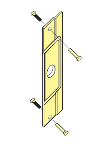 "Don-Jo AL-211-DU For Outswinging Aluminum Entrance Doors - Duro Coated - 3-1/2"" x 12"""