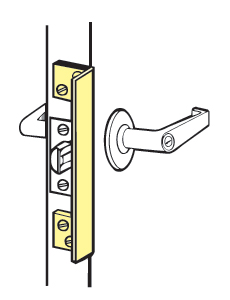 Don-Jo ALP-206-BC Angle Type For Outswinging Doors - Brass Coated - 6""