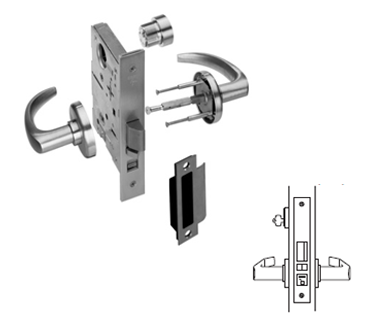 Stanley / BEST 45H7A Office (F04) Mortise Lever Lock
