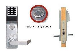 Trilogy PDL4500 Prox Mortise Lock w/Audit Trail, Privacy Type