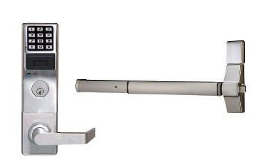 Alarm Lock Trilogy ETPDL S1G 26D V99 Exit Trim Prox Lock W/Audit Trail - Satin Chrome - Von Duprin 99 Series (Special Price)