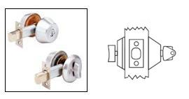 Arrow D61 Single Cylinder Deadbolt