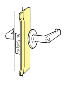 "Don-Jo BLP-210-BP For Key-in-lever Locks With Up To 3 -3/4"" Escutcheon - Brass Plated - 3-1/4"" x 10"""