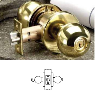 Corbin Russwin CK4351 Grade 1 Entrance or Office Knob Lock