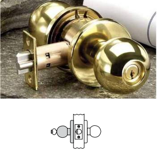 Russwin CK4357 Grade 1 Storeroom Knob Lock
