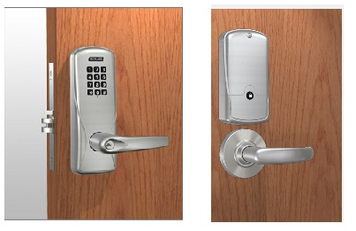 Schlage CO-200-MS-40-KP Mortise Keypad Lock - Computer Programmable with Audit Trail - Privacy Function