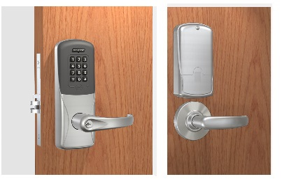 Schlage CO-200-MS-70-PRK Mortise Proximity Reader with Keypad Lock - with Audit Trail - Classroom / Storeroom Function