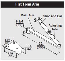 Dorma Af89p Arm Flat Complete Tri Pack Nho W P86 Bracket