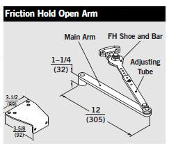 Dorma 8616 Fhp Door Closer W Friction Hold Open Arm Tri
