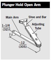 Dorma 8916 Ph Door Closer W Plunger Hold Open Arm