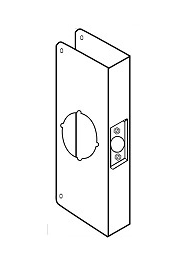 "Wrap Around Plate For Cylindrical Door Locks with 2-1/8"" hole"