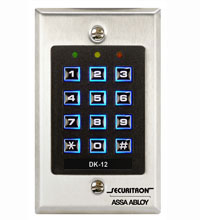 Securitron DK-12 Digital Keypad System - All-in-One Keypad System for Single-Door Traffic Control
