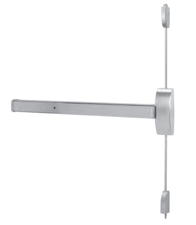 Dorma 9400B 630 Surface Vertical Rod Exit Device - Satin Stainless Steel