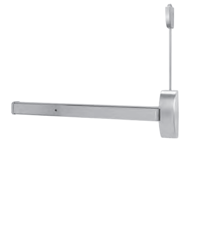 Dorma LB9400B 630 Surface Vertical Rod Exit Device - Less Bottom Rod - Satin Stainless Steel