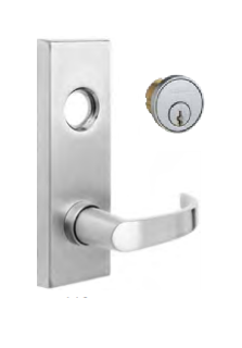 Dorma YC08-D-SC-KD-630, Raised Escutcheon Plate, C Lever with Cylinder