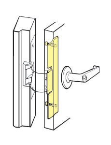 "Don-Jo FLP-211-BP Fits Folger Adams Electric Strike For Outswinging Doors - Brass Plated - 1-3/4"" x 11-1/4"""