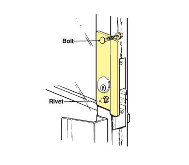 "Don-Jo GLP-307-630-LHR For Aluminum Entrance Doors-solves pull handle interference  - 2-5/8"" x 7"""