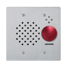 Aiphone IE-SSR Sub Station W/ Red Mushroom Button, Stainless Steel