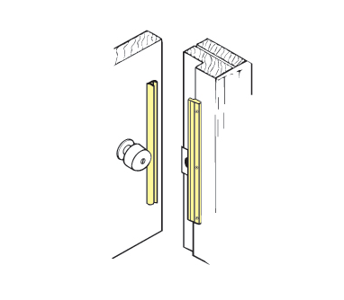 Don-Jo ILP-212-BP The Interlock For Inswinging Doors - Brass plated - 12""